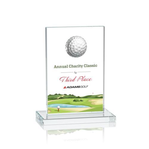 Cumberland VividPrint™ Golf Award - Clear