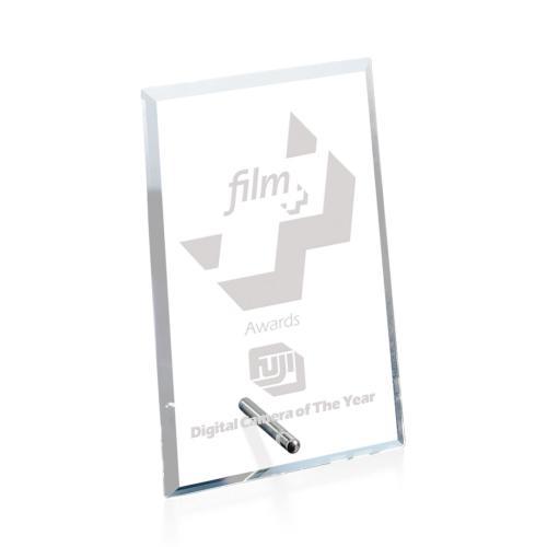 Windsor Rectangle Vertical Award - Starfire/Chrome
