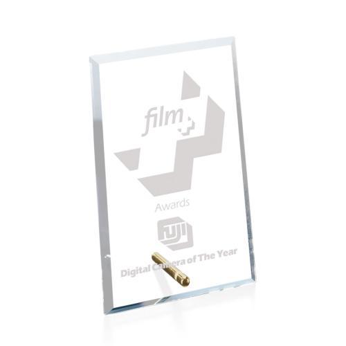 Windsor Rectangle Vertical Award - Starfire/Gold