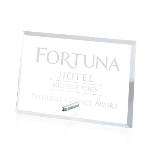 Windsor Rectangle Horizontal Award - Starfire/Chrome