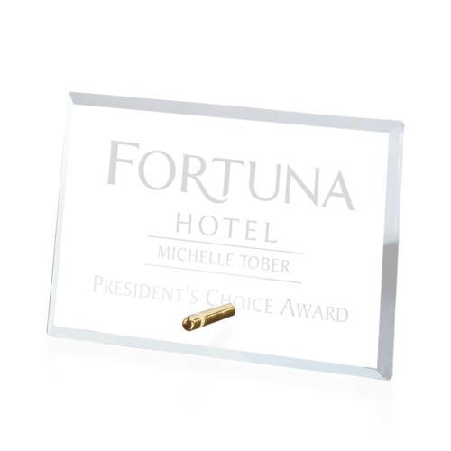 Windsor Rectangle Horizontal Award - Starfire/Gold