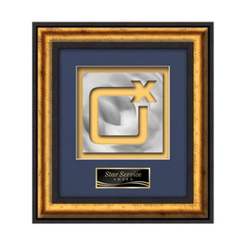 Grazia Aquashape™ Award Award Square - Black/Gold