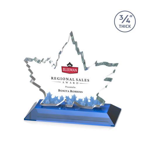 Maple Leaf VividPrint™ Award - Sky Blue