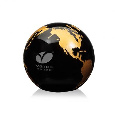 Globe Paperweight - Black