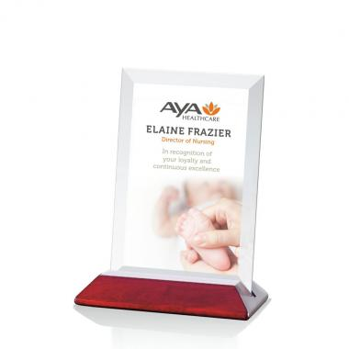 Embassy (Rosewood/Vertical) Award - VividPrint™