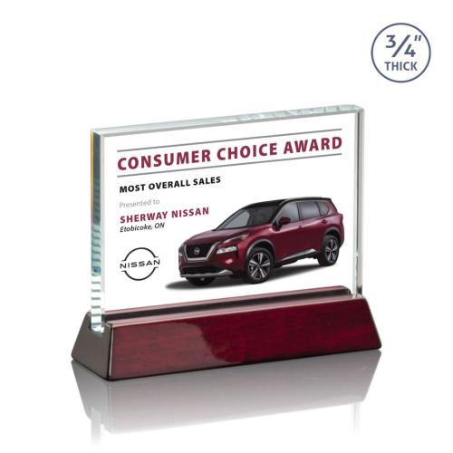 Walkerton VividPrint™ Award - Rosewood (Horizontal)