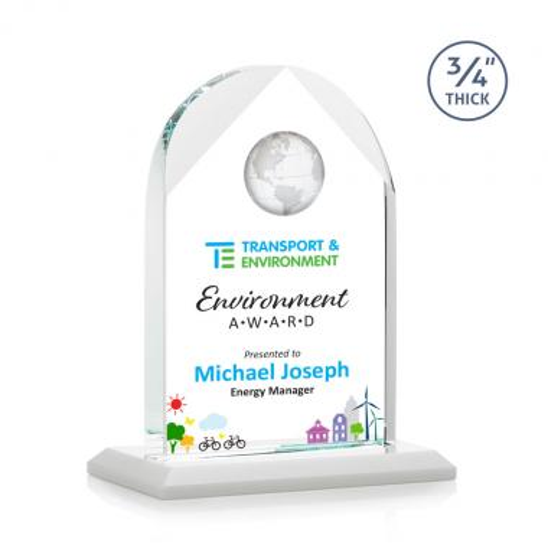 Blake Globe VividPrint™ Award - White