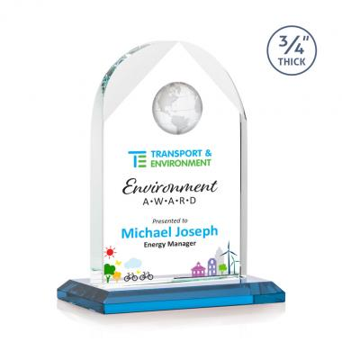 Blake Globe VividPrint™ Award - Sky Blue