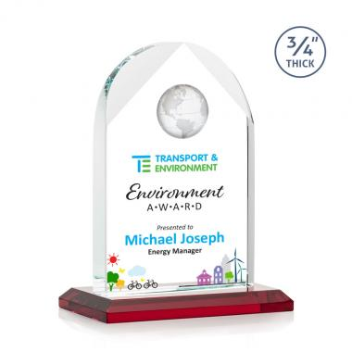 Blake Globe VividPrint™ Award - Red