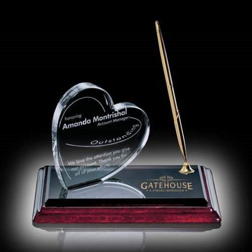 Heart on Albion Pen Set - Gold