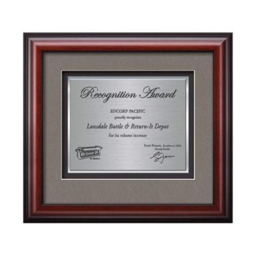 Cornaro Certificate TexEtch - Mahogany