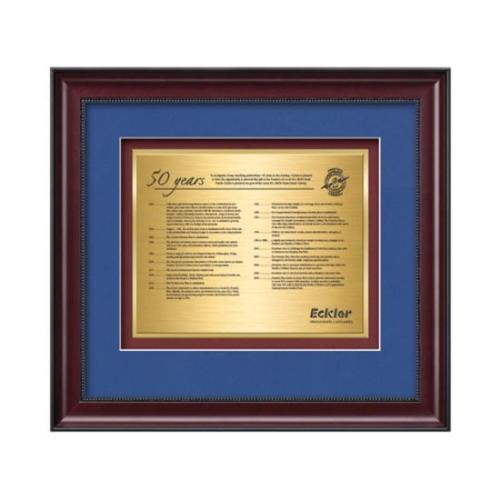 Caprera Certificate TexEtch - Mahogany