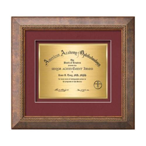 Lazio Certificate TexEtch - Bronze/Copper