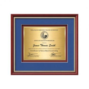 Baron Certificate TexEtch - Mahogany/Gold