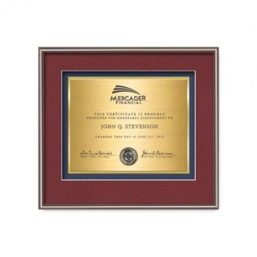 Fenestra Certificate TexEtch - Bronze