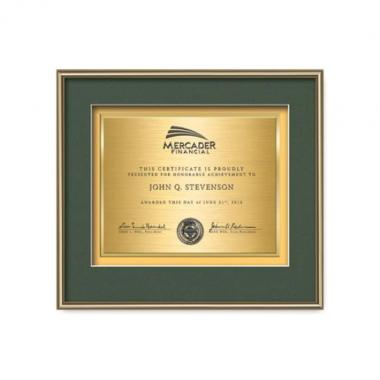 Fenestra Certificate TexEtch - Gold