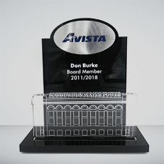 Custom Acrylic Award Example