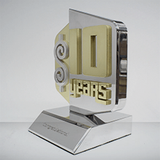 Custom Metal Award Example