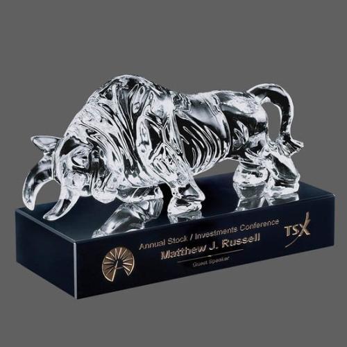 Raging Bull Award on Black Base Packaging 2 x Carrington Boxes